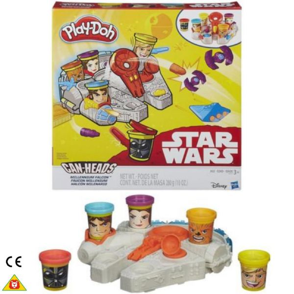 Play Doh Playdoh Star Wars Can-Heads Millennium Falcon and Crew  Age 3+ Years B0002